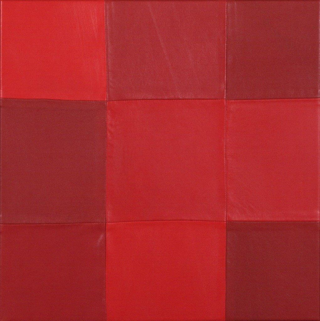 Матюхина О Красный 40х40 (43х43 с рамой) холст кожа